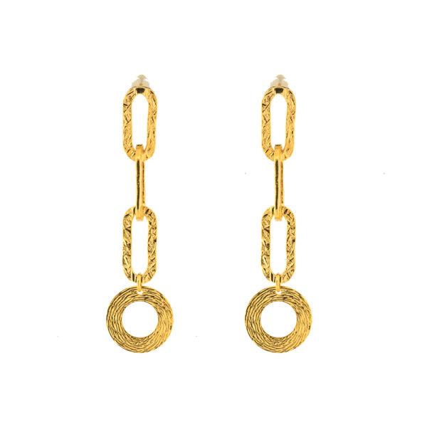 03X05-02285 Oxette Striking Gold Earrings