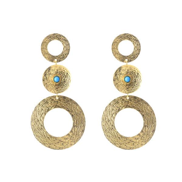 03X05-02317 Oxette Striking Gold Earrings