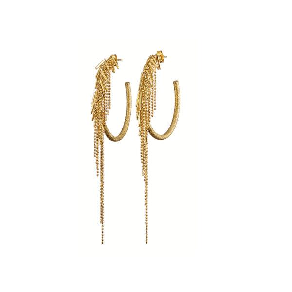 03X05-02338 Oxette Striking Gold Earrings